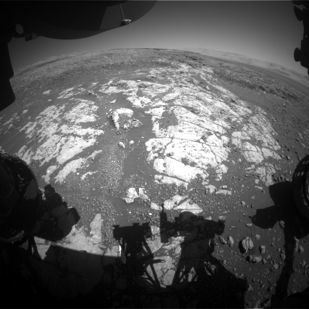 Nasa's Mars rover Curiosity acquired this image using its Front Hazard Avoidance Camera (Front Hazcam) on Sol 1983, at drive 580, site number 68