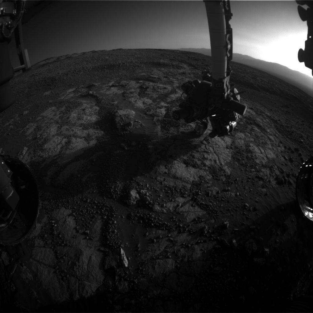 Nasa's Mars rover Curiosity acquired this image using its Front Hazard Avoidance Camera (Front Hazcam) on Sol 1984, at drive 580, site number 68