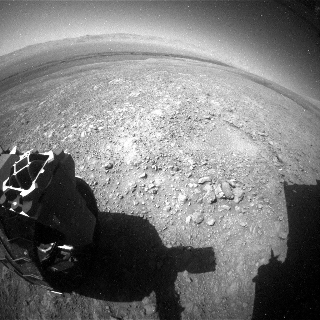 NASA's Mars rover Curiosity acquired this image using its Rear Hazard Avoidance Cameras (Rear Hazcams) on Sol 1985