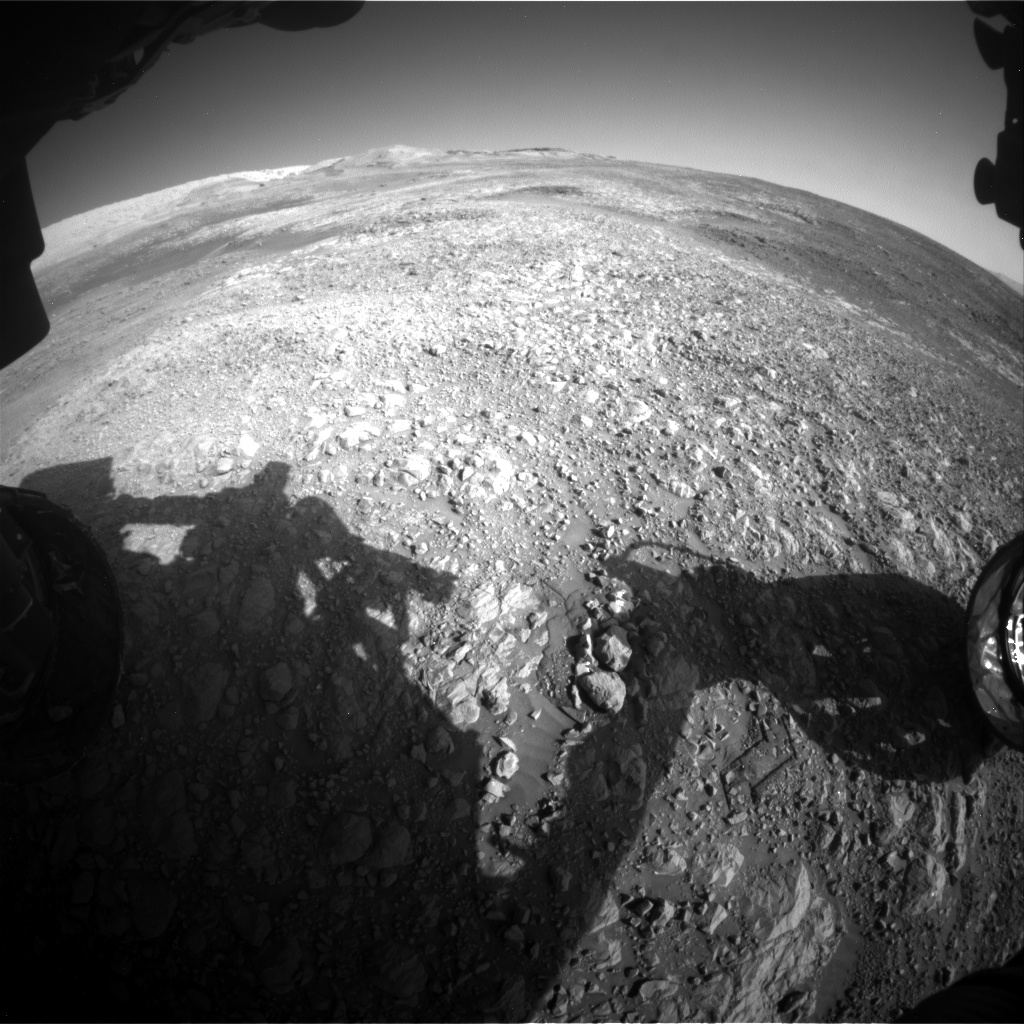 Nasa's Mars rover Curiosity acquired this image using its Front Hazard Avoidance Camera (Front Hazcam) on Sol 1986, at drive 1232, site number 68
