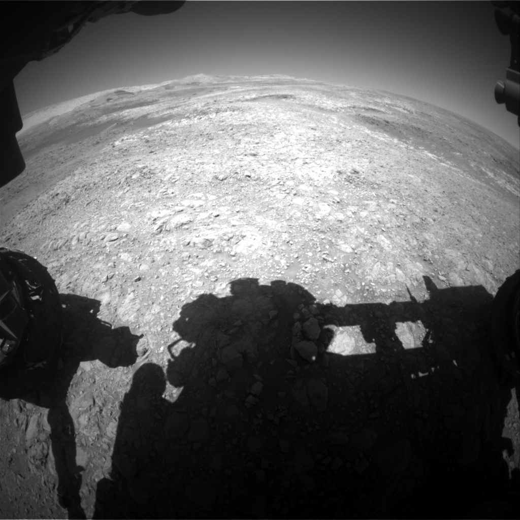NASA's Mars rover Curiosity acquired this image using its Front Hazard Avoidance Cameras (Front Hazcams) on Sol 1987