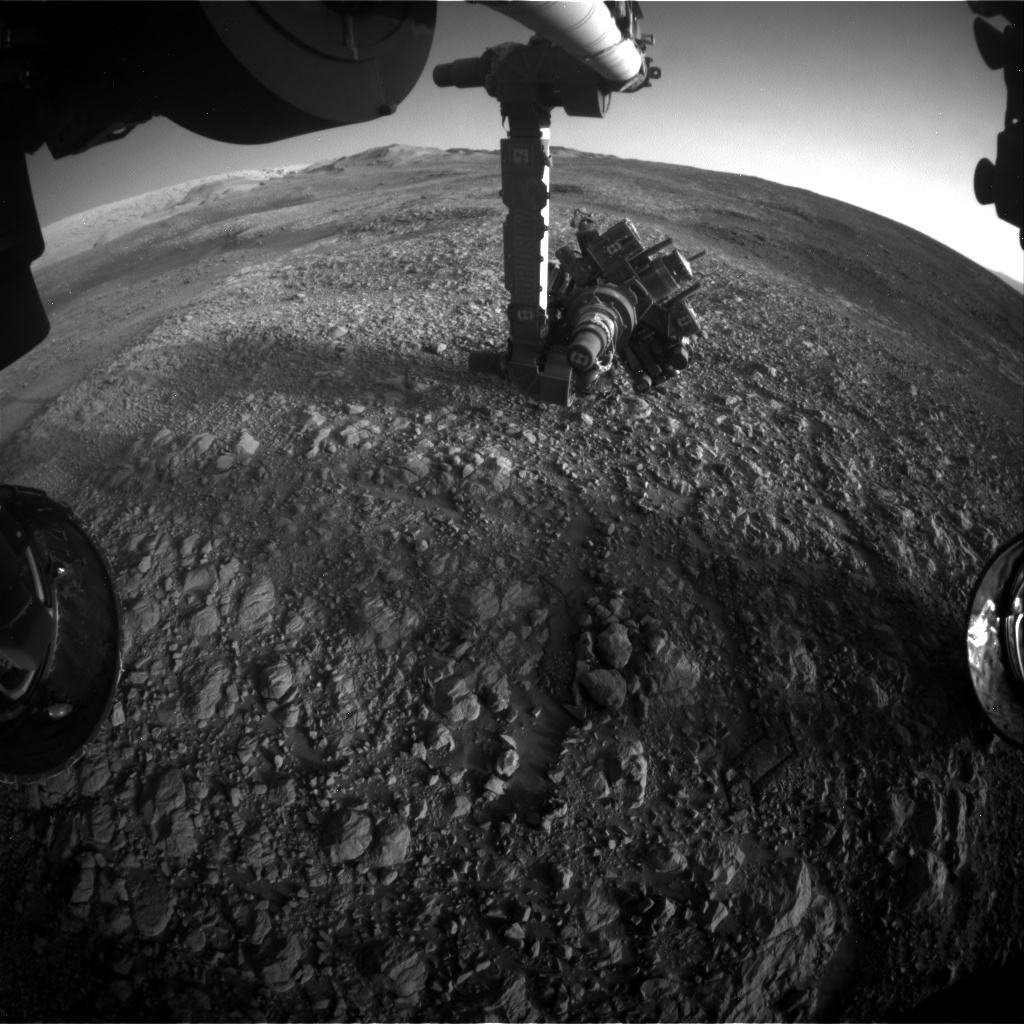 Nasa's Mars rover Curiosity acquired this image using its Front Hazard Avoidance Camera (Front Hazcam) on Sol 1988, at drive 1232, site number 68