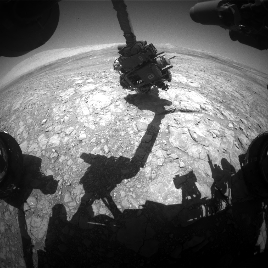Nasa's Mars rover Curiosity acquired this image using its Front Hazard Avoidance Camera (Front Hazcam) on Sol 1991, at drive 1626, site number 68