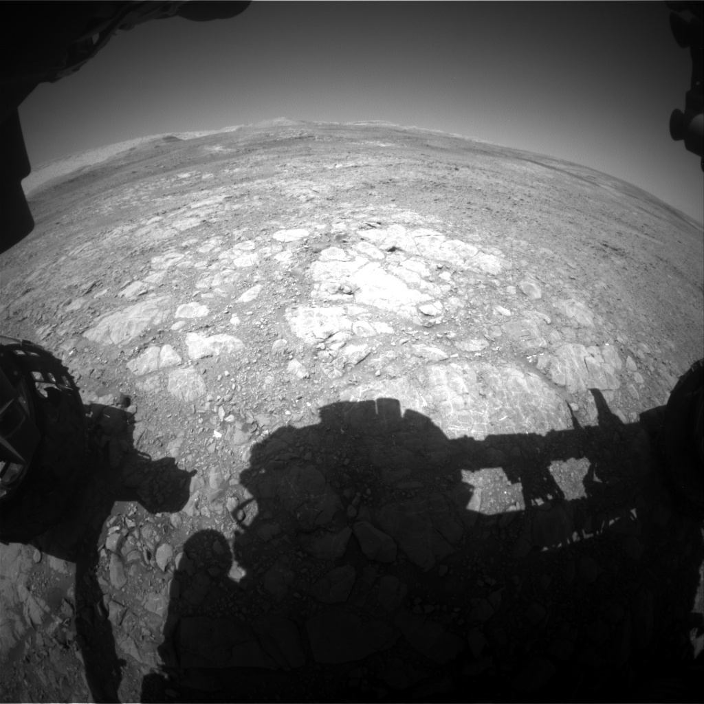 NASA's Mars rover Curiosity acquired this image using its Front Hazard Avoidance Cameras (Front Hazcams) on Sol 1992