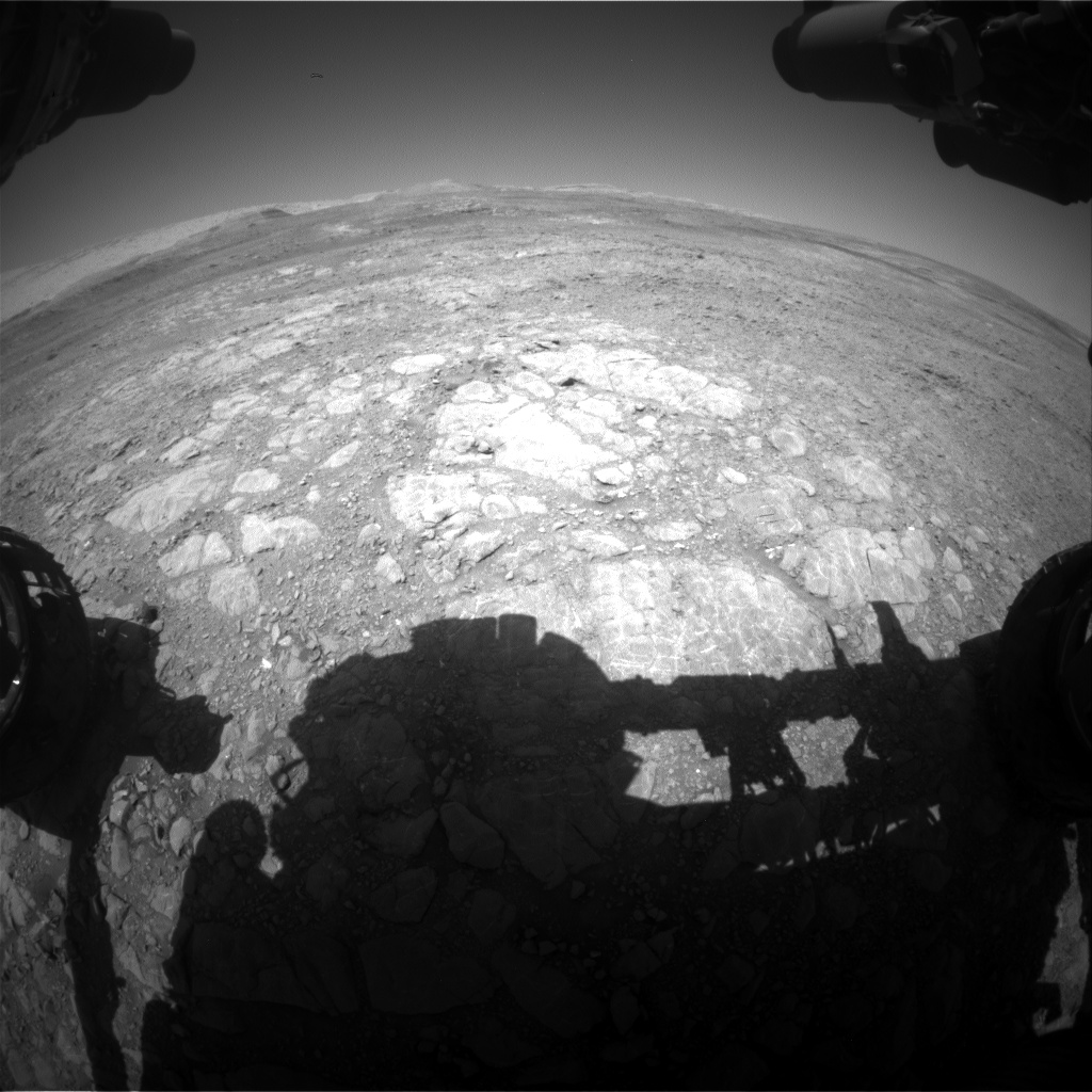 Nasa's Mars rover Curiosity acquired this image using its Front Hazard Avoidance Camera (Front Hazcam) on Sol 1992, at drive 1816, site number 68
