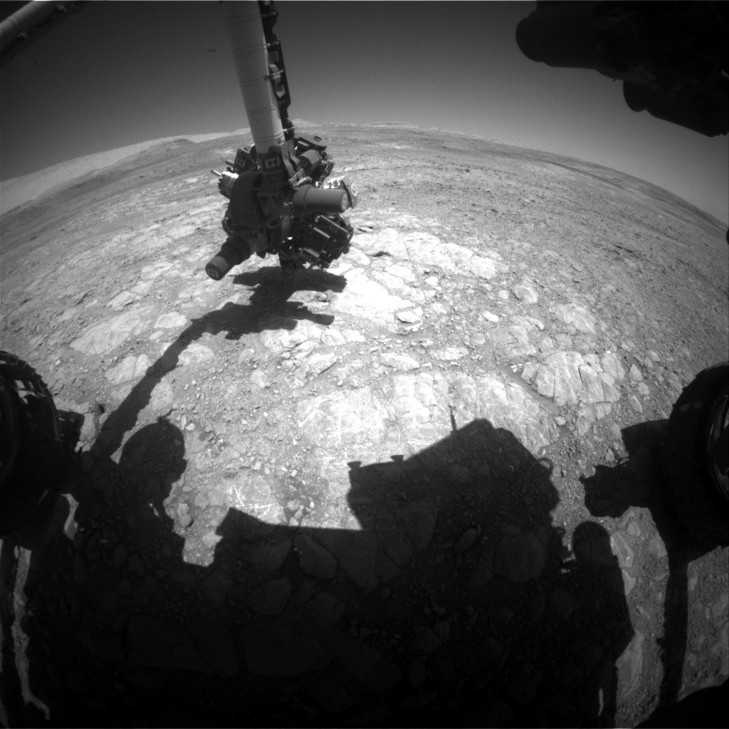 Nasa's Mars rover Curiosity acquired this image using its Front Hazard Avoidance Camera (Front Hazcam) on Sol 1993, at drive 1816, site number 68
