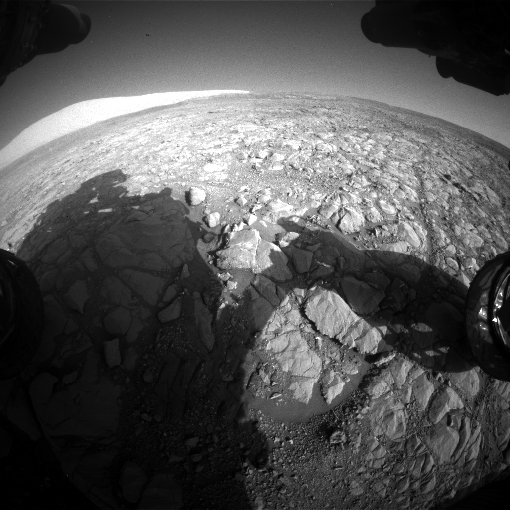 NASA's Mars rover Curiosity acquired this image using its Front Hazard Avoidance Cameras (Front Hazcams) on Sol 1993