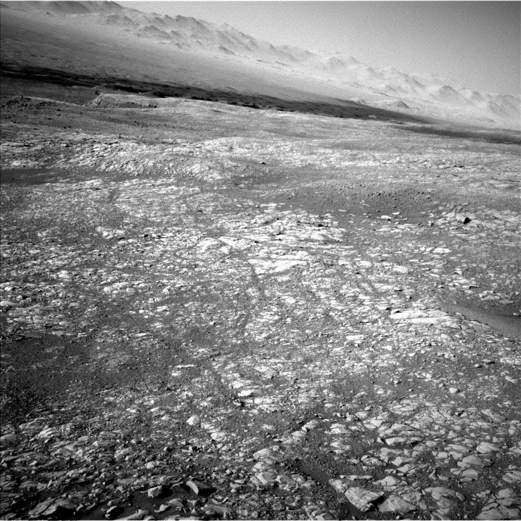 Nasa's Mars rover Curiosity acquired this image using its Left Navigation Camera on Sol 1993, at drive 2050, site number 68