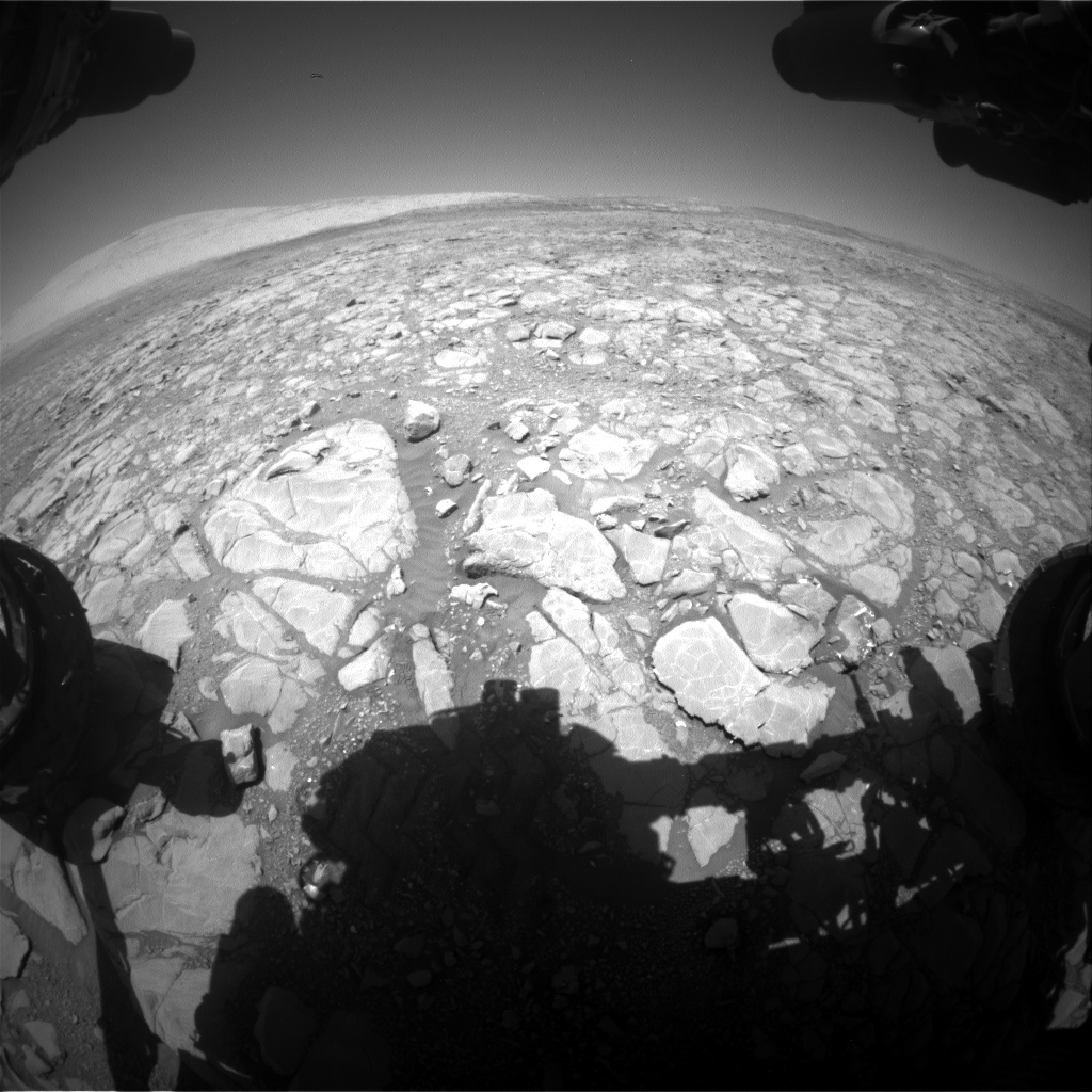 Nasa's Mars rover Curiosity acquired this image using its Front Hazard Avoidance Camera (Front Hazcam) on Sol 1994, at drive 2090, site number 68