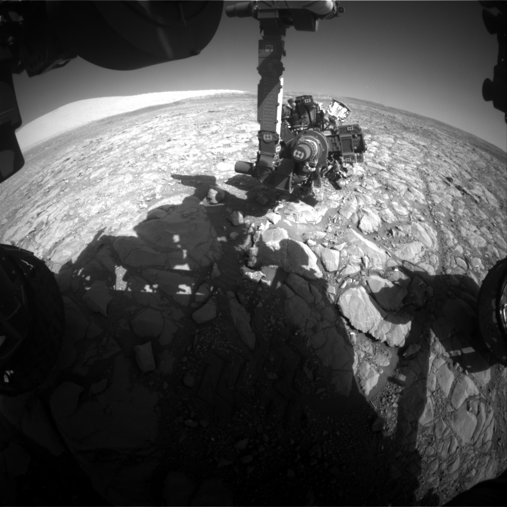 NASA's Mars rover Curiosity acquired this image using its Front Hazard Avoidance Cameras (Front Hazcams) on Sol 1995