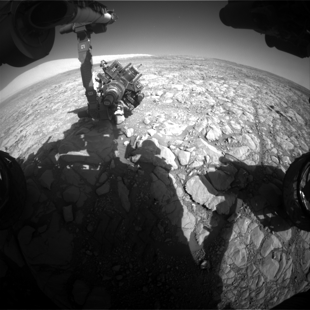 Nasa's Mars rover Curiosity acquired this image using its Front Hazard Avoidance Camera (Front Hazcam) on Sol 1995, at drive 2090, site number 68