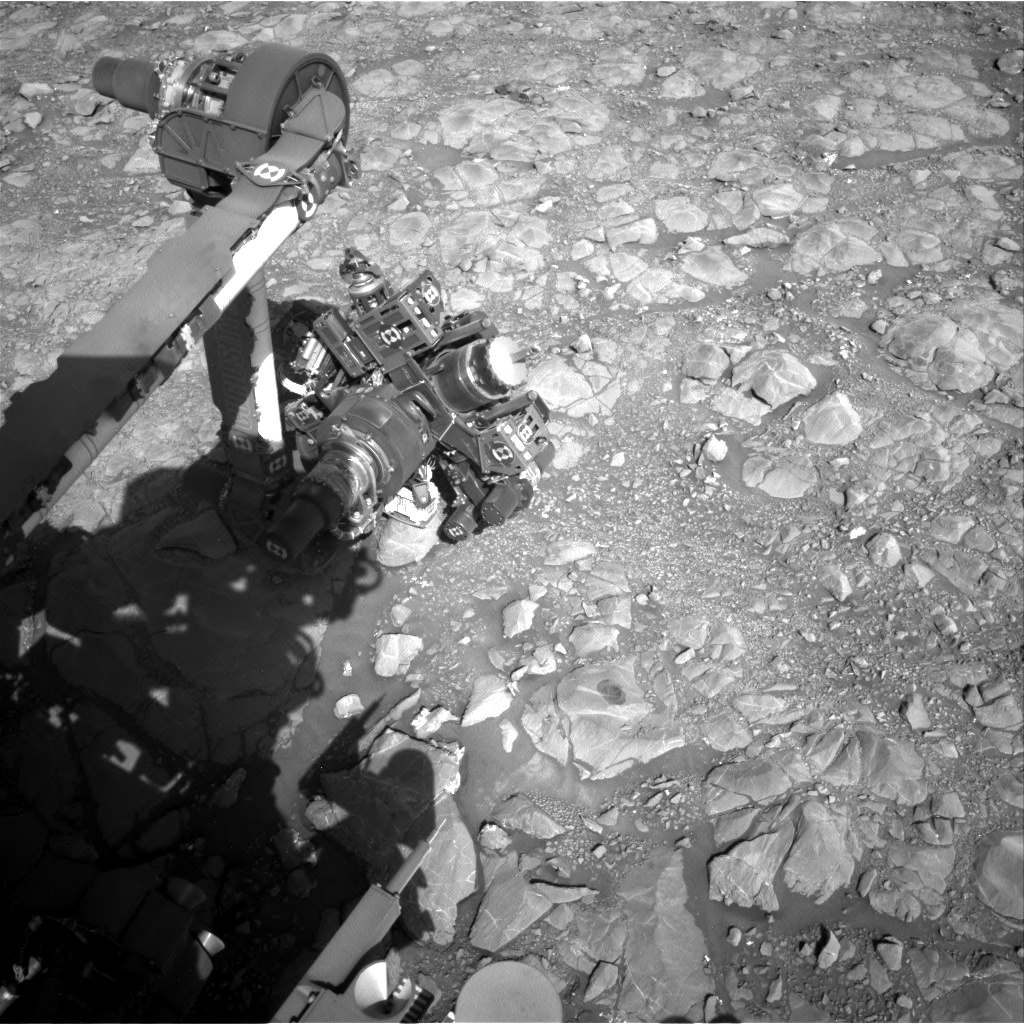 Nasa's Mars rover Curiosity acquired this image using its Right Navigation Camera on Sol 1995, at drive 2090, site number 68