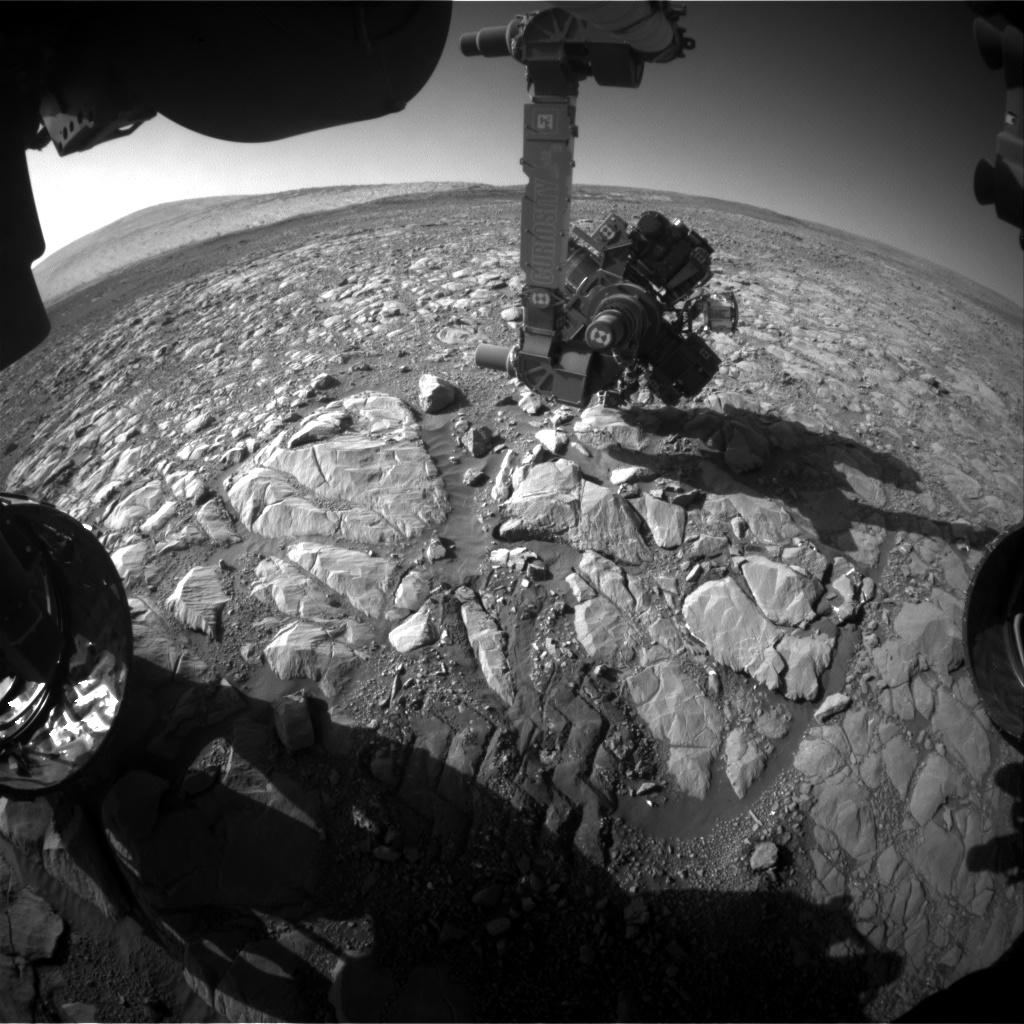 Nasa's Mars rover Curiosity acquired this image using its Front Hazard Avoidance Camera (Front Hazcam) on Sol 1996, at drive 2090, site number 68