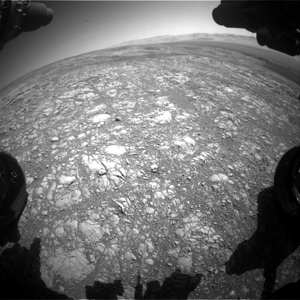 Nasa's Mars rover Curiosity acquired this image using its Front Hazard Avoidance Camera (Front Hazcam) on Sol 1996, at drive 2396, site number 68