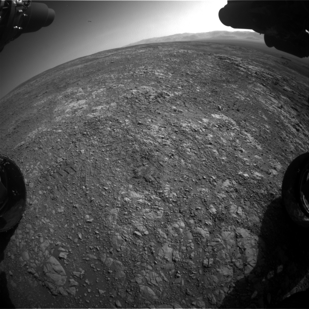 Nasa's Mars rover Curiosity acquired this image using its Front Hazard Avoidance Camera (Front Hazcam) on Sol 1998, at drive 2484, site number 68