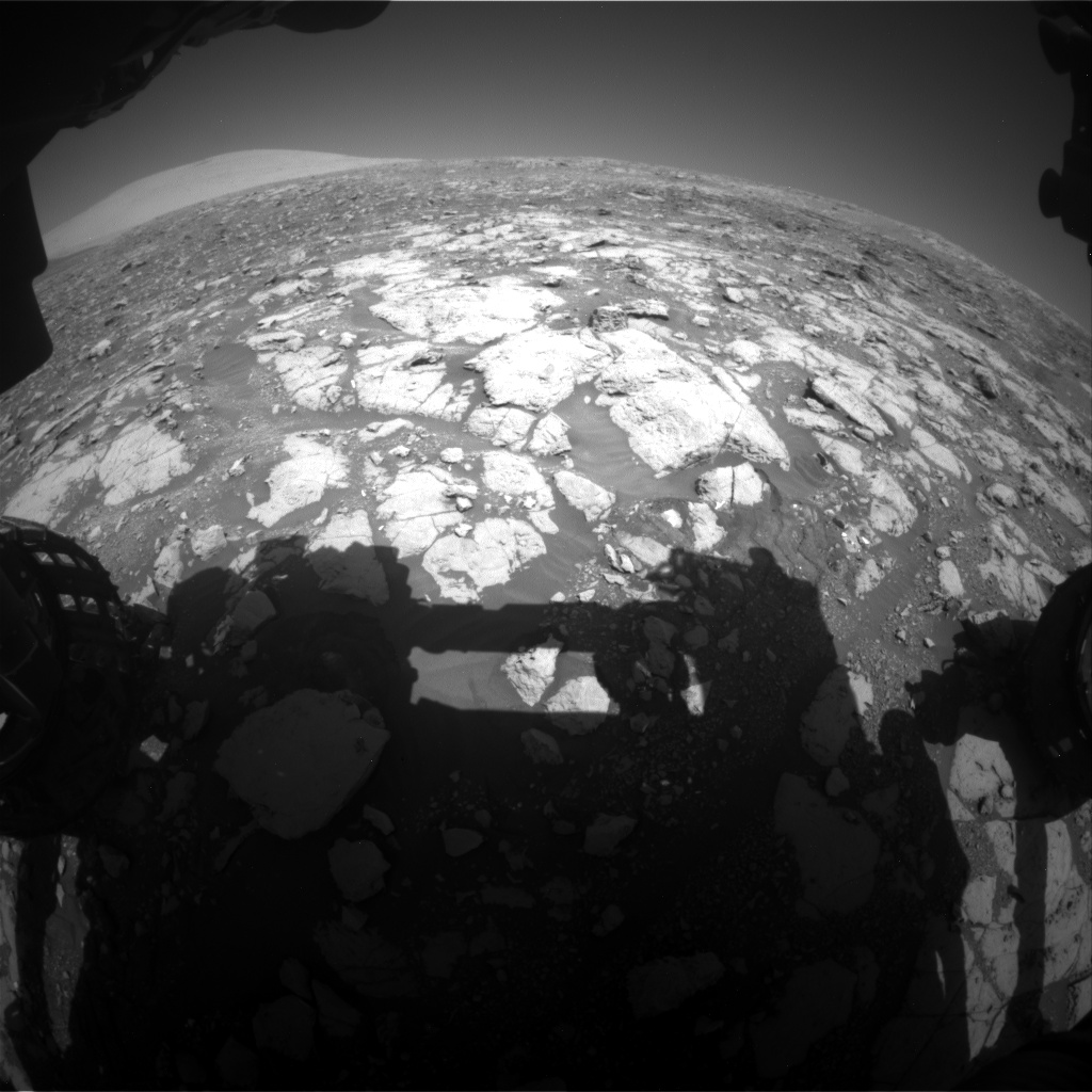 Nasa's Mars rover Curiosity acquired this image using its Front Hazard Avoidance Camera (Front Hazcam) on Sol 1999, at drive 2626, site number 68