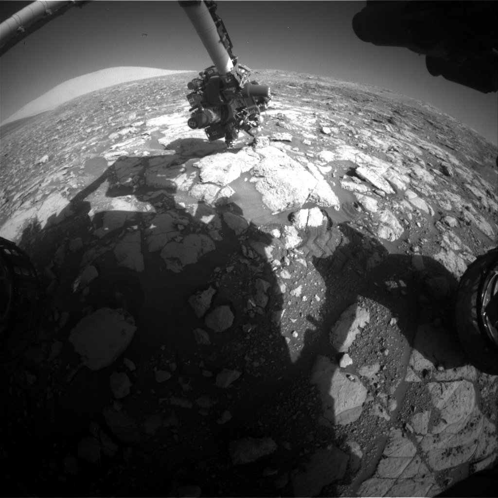 NASA's Mars rover Curiosity acquired this image using its Front Hazard Avoidance Cameras (Front Hazcams) on Sol 2000