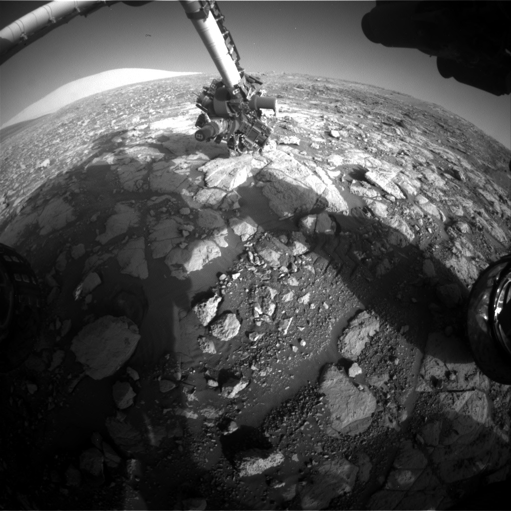 Nasa's Mars rover Curiosity acquired this image using its Front Hazard Avoidance Camera (Front Hazcam) on Sol 2000, at drive 2626, site number 68