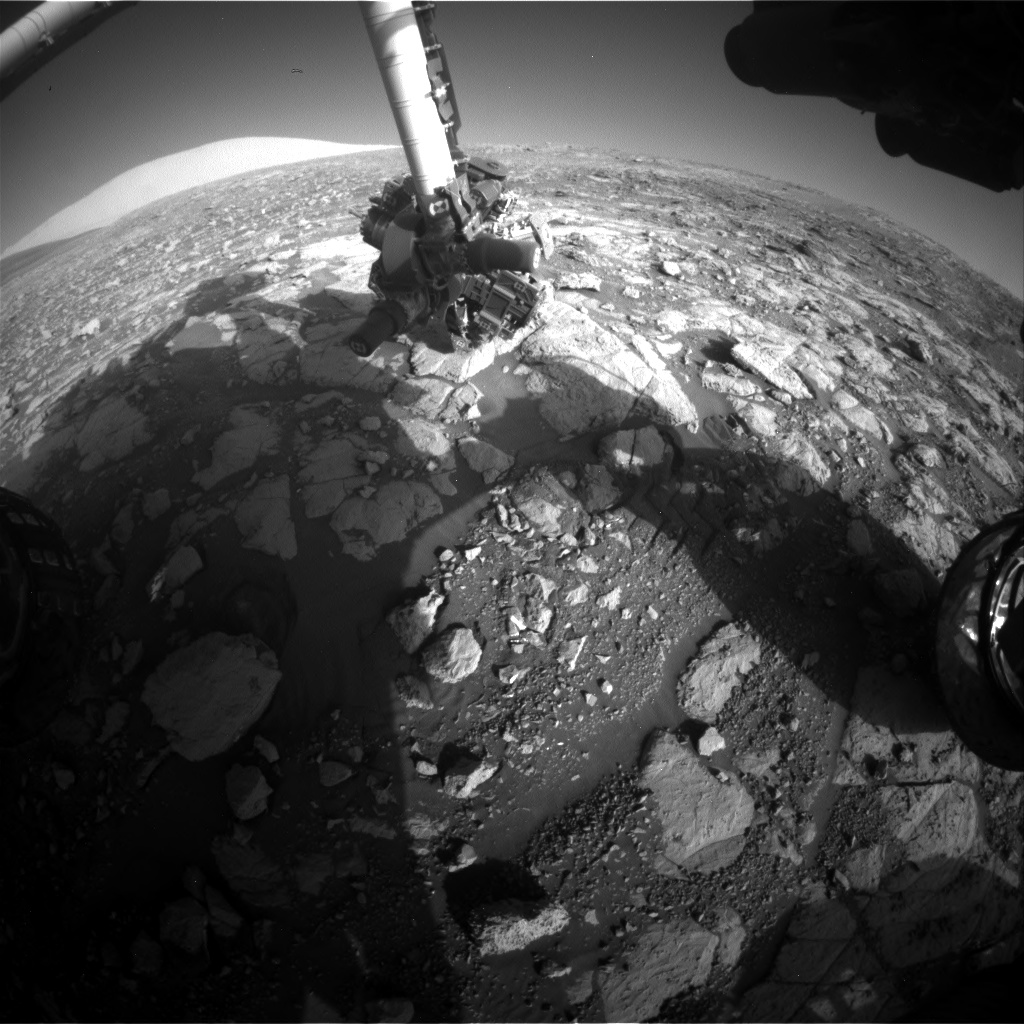 Nasa's Mars rover Curiosity acquired this image using its Front Hazard Avoidance Camera (Front Hazcam) on Sol 2001, at drive 2626, site number 68