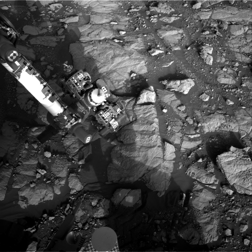 Nasa's Mars rover Curiosity acquired this image using its Right Navigation Camera on Sol 2001, at drive 2626, site number 68