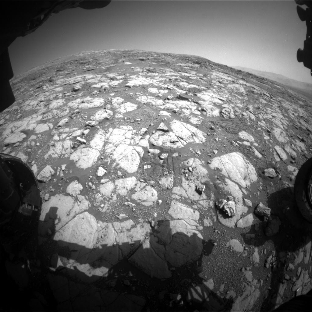 Nasa's Mars rover Curiosity acquired this image using its Front Hazard Avoidance Camera (Front Hazcam) on Sol 2003, at drive 0, site number 69