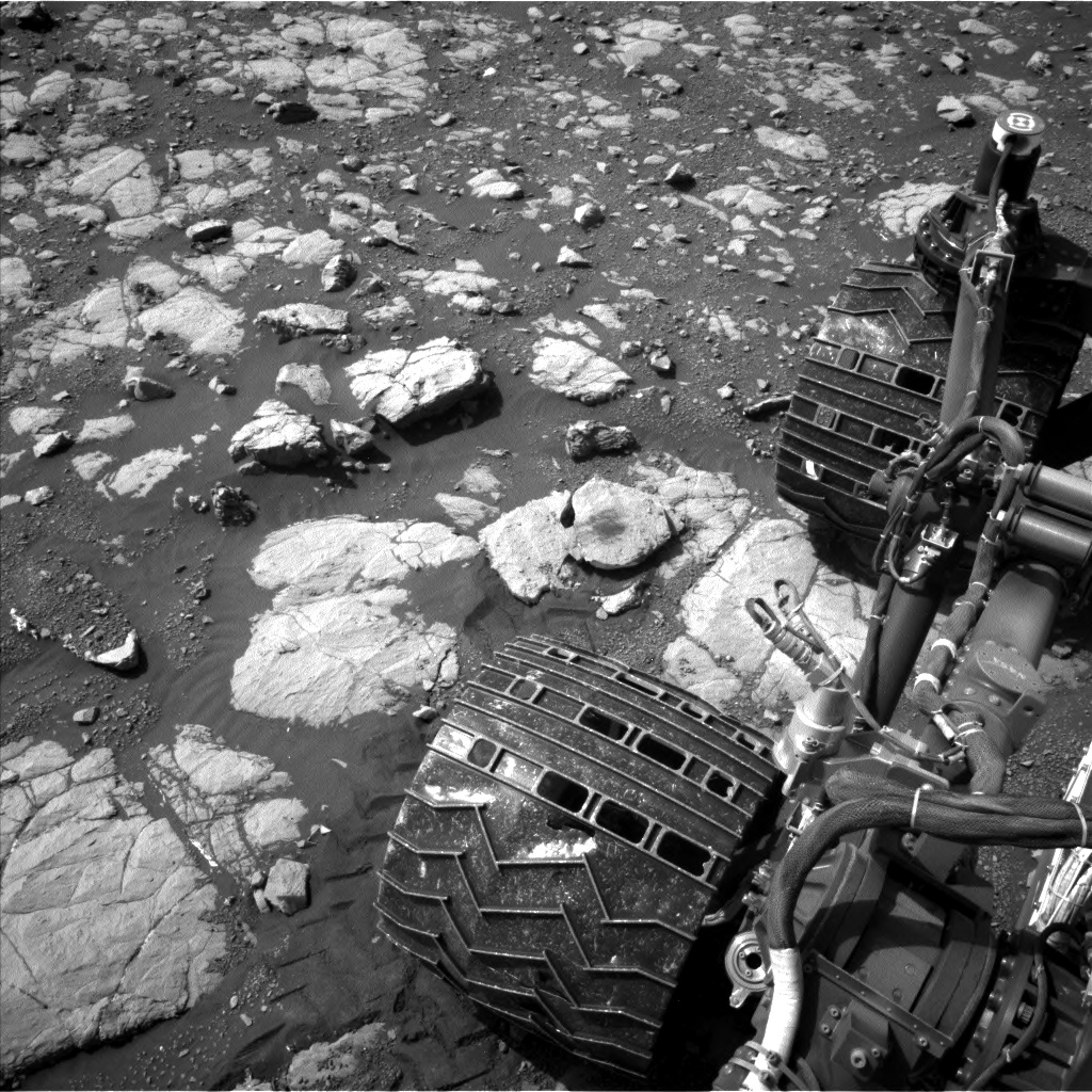 Nasa's Mars rover Curiosity acquired this image using its Left Navigation Camera on Sol 2003, at drive 0, site number 69
