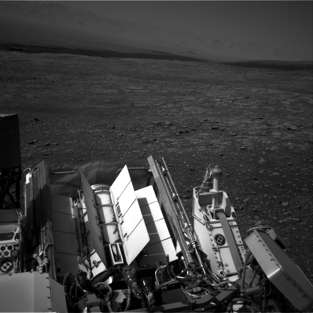 Nasa's Mars rover Curiosity acquired this image using its Right Navigation Camera on Sol 2003, at drive 0, site number 69