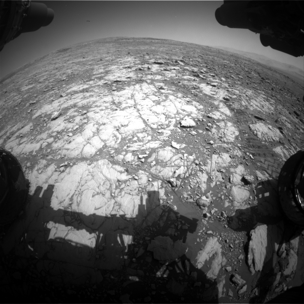 Nasa's Mars rover Curiosity acquired this image using its Front Hazard Avoidance Camera (Front Hazcam) on Sol 2004, at drive 408, site number 69