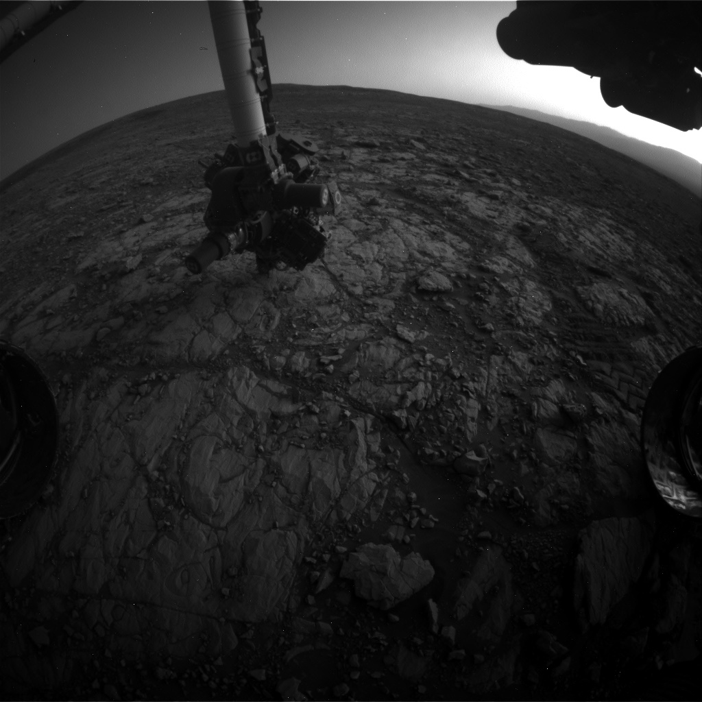 Nasa's Mars rover Curiosity acquired this image using its Front Hazard Avoidance Camera (Front Hazcam) on Sol 2005, at drive 408, site number 69