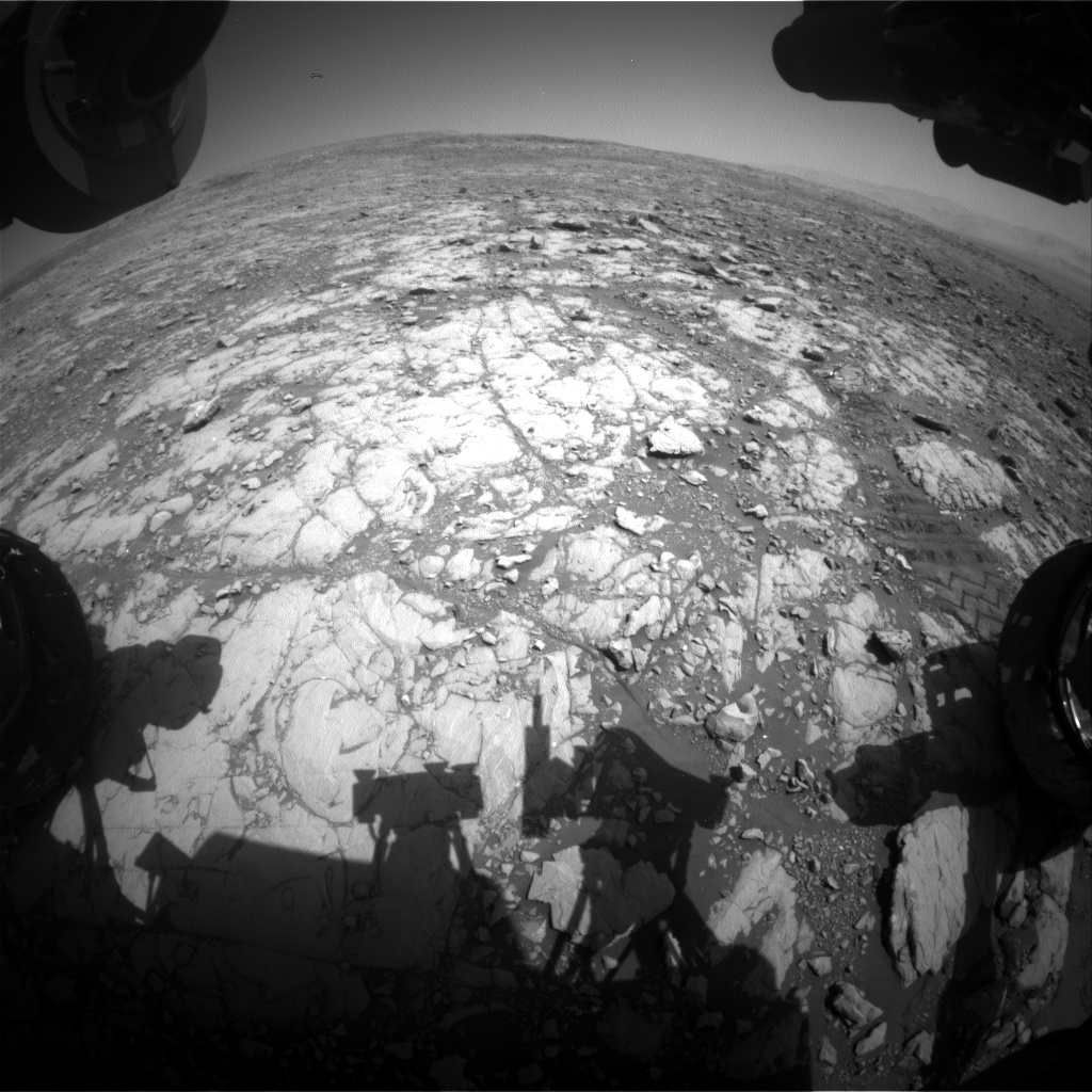 Nasa's Mars rover Curiosity acquired this image using its Front Hazard Avoidance Camera (Front Hazcam) on Sol 2006, at drive 408, site number 69