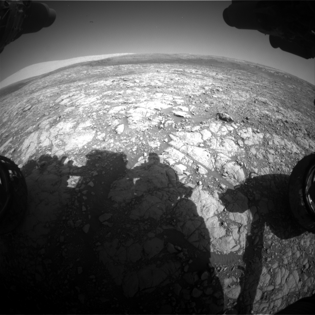 Nasa's Mars rover Curiosity acquired this image using its Front Hazard Avoidance Camera (Front Hazcam) on Sol 2007, at drive 714, site number 69
