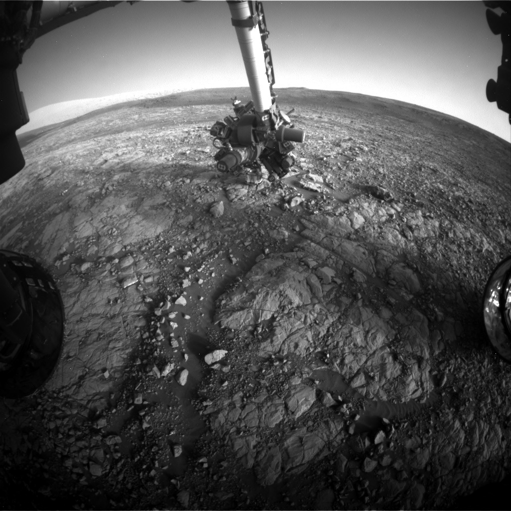NASA's Mars rover Curiosity acquired this image using its Front Hazard Avoidance Cameras (Front Hazcams) on Sol 2008