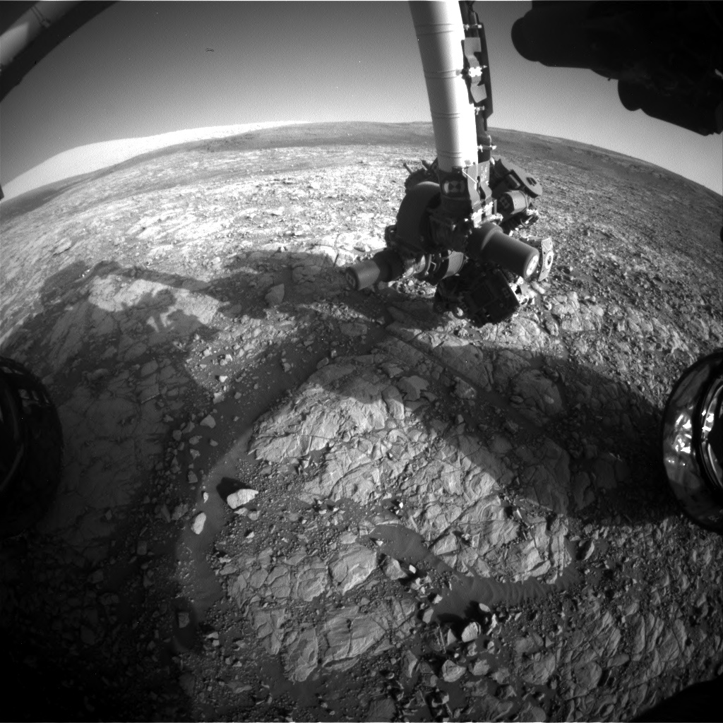 Nasa's Mars rover Curiosity acquired this image using its Front Hazard Avoidance Camera (Front Hazcam) on Sol 2008, at drive 714, site number 69