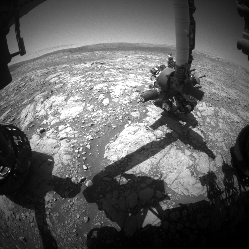 Nasa's Mars rover Curiosity acquired this image using its Front Hazard Avoidance Camera (Front Hazcam) on Sol 2009, at drive 714, site number 69