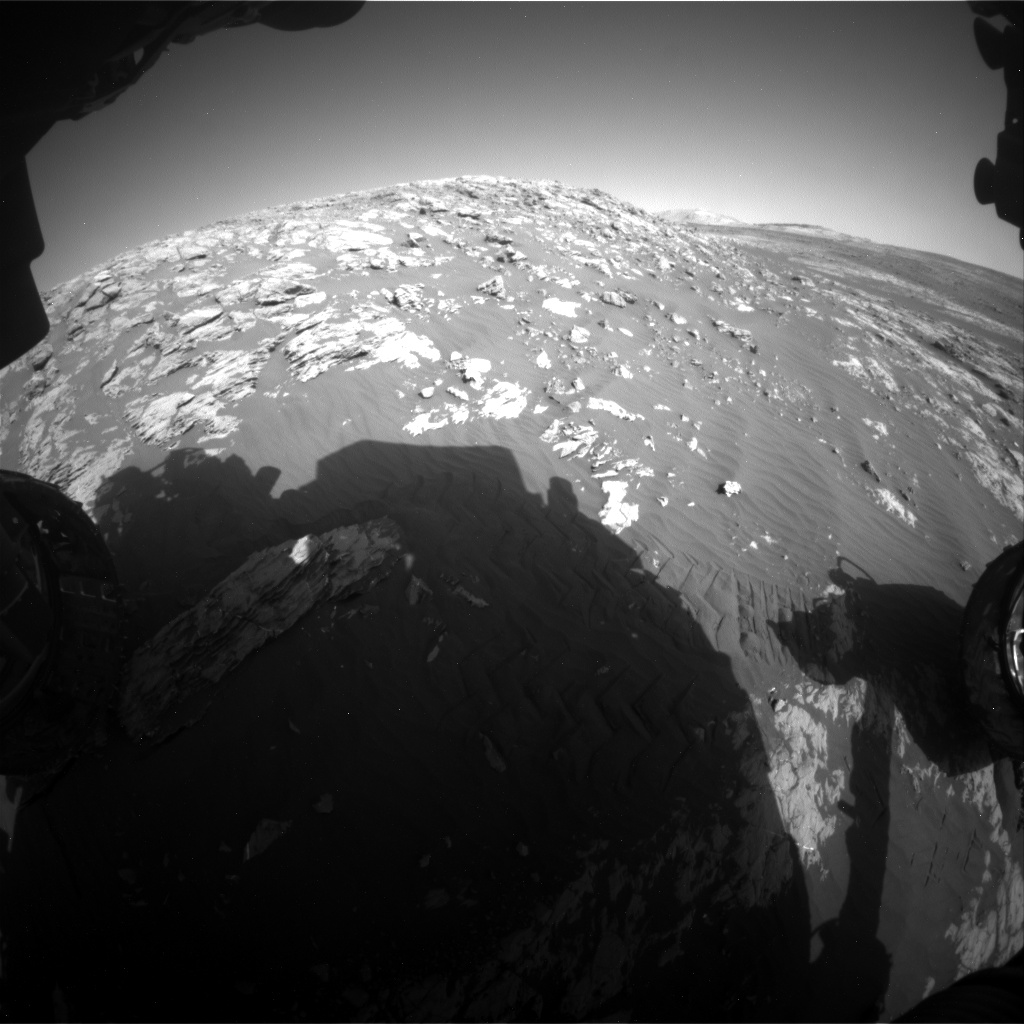 Nasa's Mars rover Curiosity acquired this image using its Front Hazard Avoidance Camera (Front Hazcam) on Sol 2009, at drive 1072, site number 69