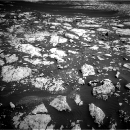 Nasa's Mars rover Curiosity acquired this image using its Left Navigation Camera on Sol 2009, at drive 978, site number 69