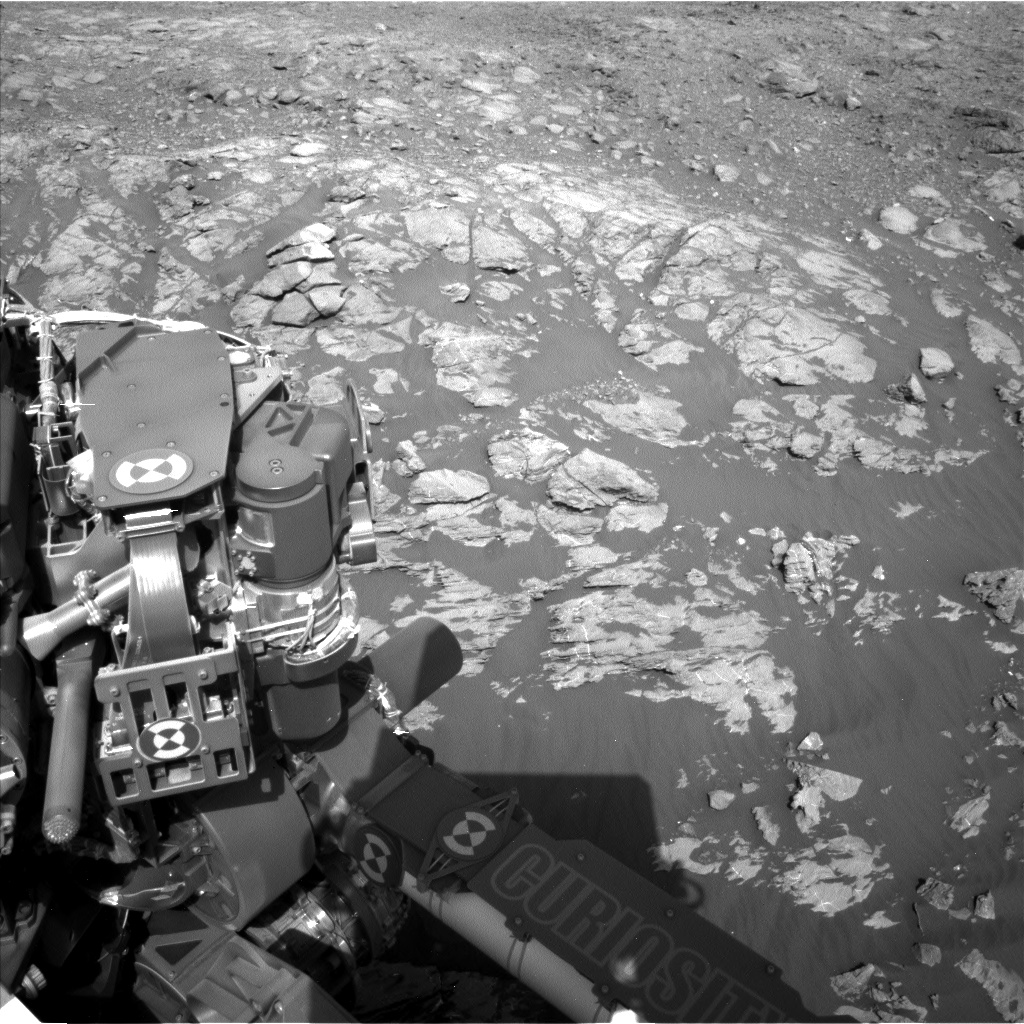 Nasa's Mars rover Curiosity acquired this image using its Left Navigation Camera on Sol 2009, at drive 1072, site number 69
