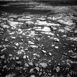 Nasa's Mars rover Curiosity acquired this image using its Right Navigation Camera on Sol 2009, at drive 966, site number 69