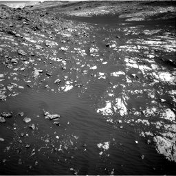 Nasa's Mars rover Curiosity acquired this image using its Right Navigation Camera on Sol 2009, at drive 1050, site number 69