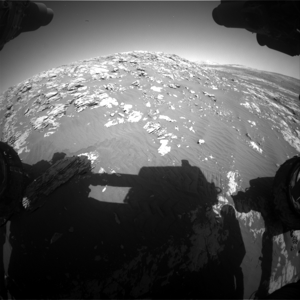 NASA's Mars rover Curiosity acquired this image using its Front Hazard Avoidance Cameras (Front Hazcams) on Sol 2010