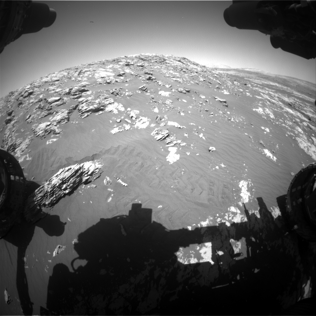 Nasa's Mars rover Curiosity acquired this image using its Front Hazard Avoidance Camera (Front Hazcam) on Sol 2011, at drive 1072, site number 69