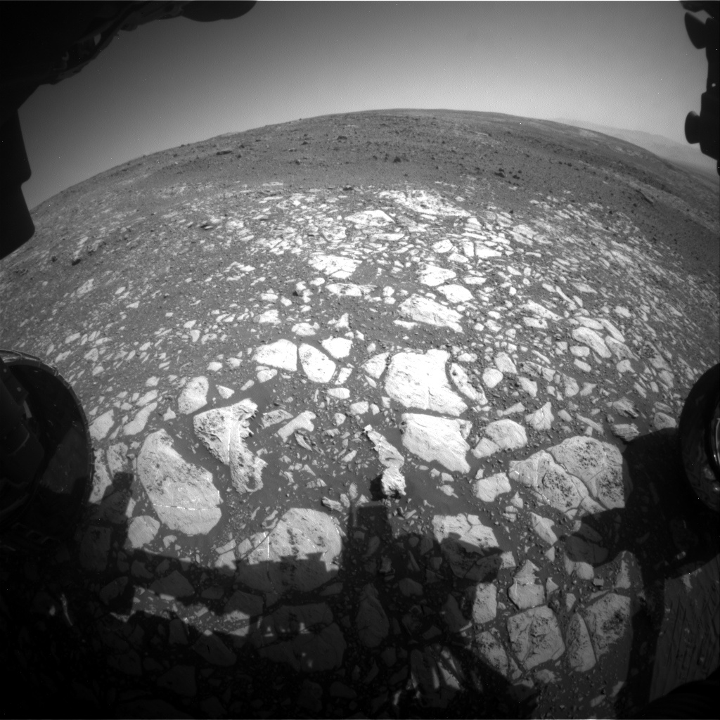 Nasa's Mars rover Curiosity acquired this image using its Front Hazard Avoidance Camera (Front Hazcam) on Sol 2012, at drive 1384, site number 69