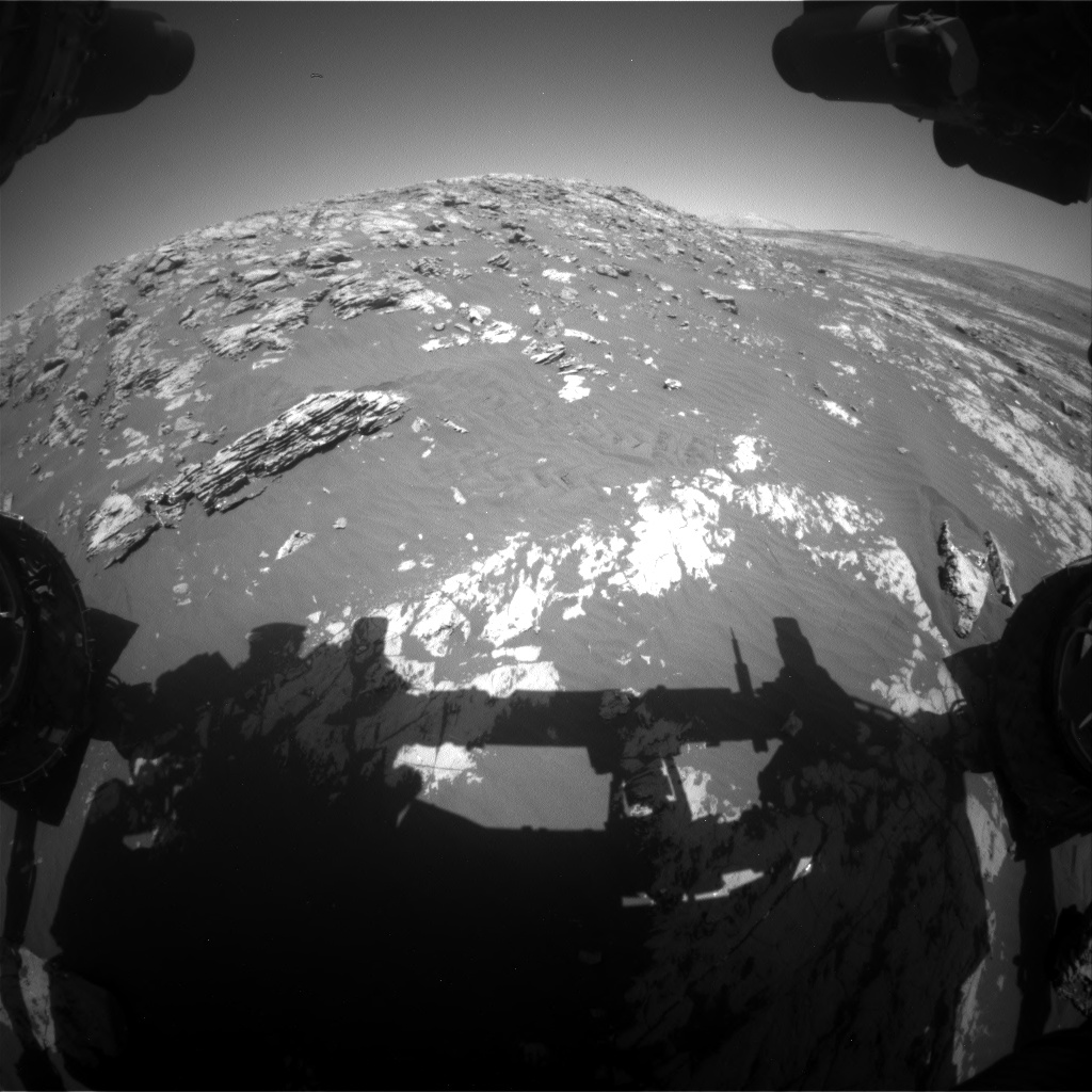 Nasa's Mars rover Curiosity acquired this image using its Front Hazard Avoidance Camera (Front Hazcam) on Sol 2012, at drive 1078, site number 69