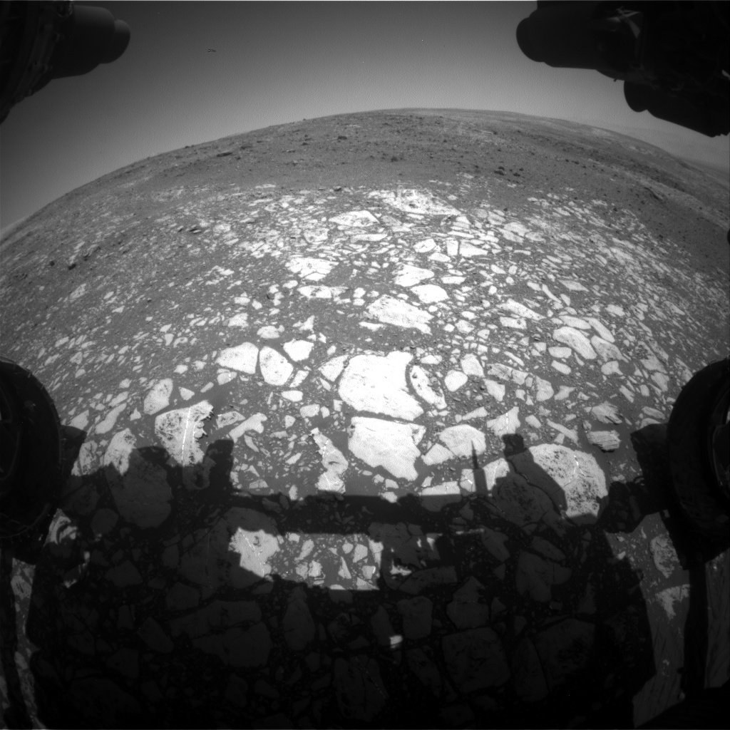 Nasa's Mars rover Curiosity acquired this image using its Front Hazard Avoidance Camera (Front Hazcam) on Sol 2013, at drive 1384, site number 69