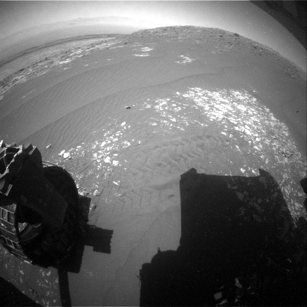 NASA's Mars rover Curiosity acquired this image using its Rear Hazard Avoidance Cameras (Rear Hazcams) on Sol 2013