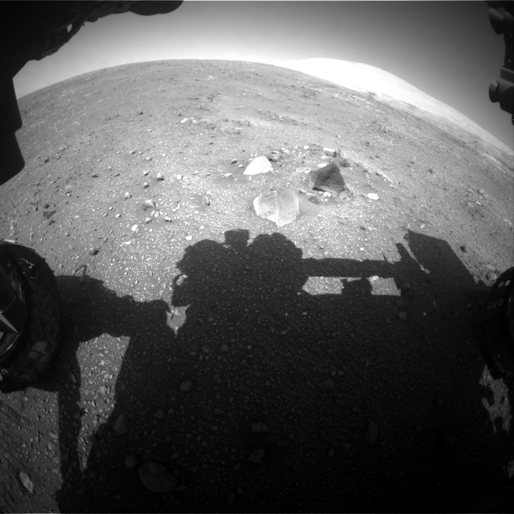 NASA's Mars rover Curiosity acquired this image using its Front Hazard Avoidance Cameras (Front Hazcams) on Sol 2014