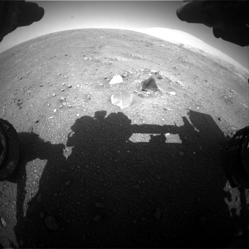 Nasa's Mars rover Curiosity acquired this image using its Front Hazard Avoidance Camera (Front Hazcam) on Sol 2014, at drive 1552, site number 69