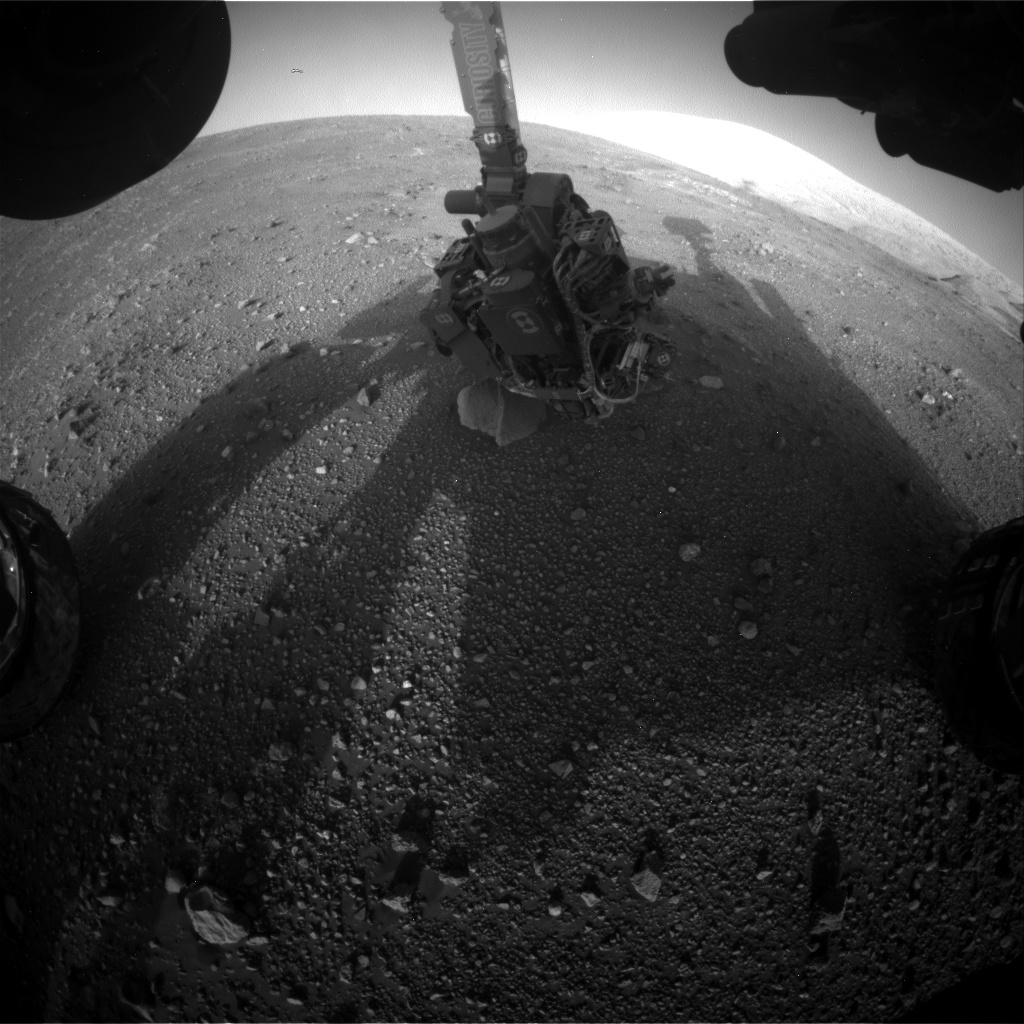 Nasa's Mars rover Curiosity acquired this image using its Front Hazard Avoidance Camera (Front Hazcam) on Sol 2015, at drive 1552, site number 69