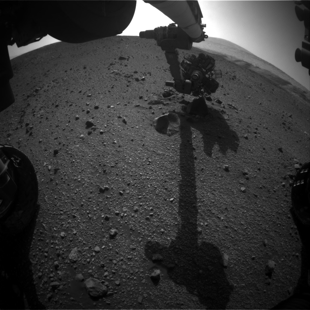 Nasa's Mars rover Curiosity acquired this image using its Front Hazard Avoidance Camera (Front Hazcam) on Sol 2016, at drive 1552, site number 69