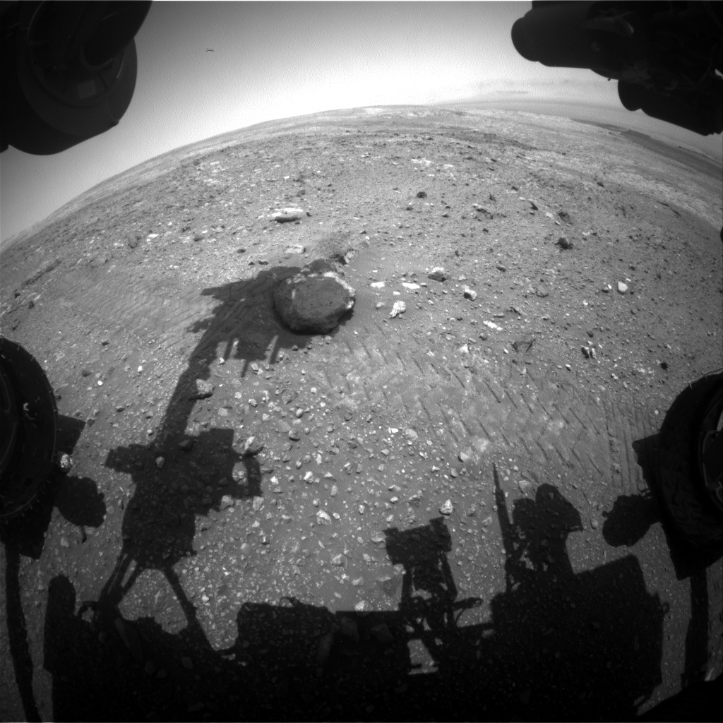 Nasa's Mars rover Curiosity acquired this image using its Front Hazard Avoidance Camera (Front Hazcam) on Sol 2021, at drive 1768, site number 69
